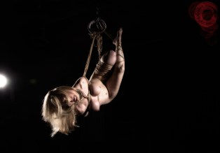 Porn Legend Nina Hartley in Shibari suspension bondage. Image Clover, Rope by WykD Dave #WykDRope