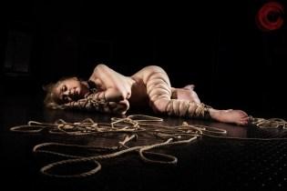 Nina Hartley in Shibari bondage. Greene. Image Clover, Rope by WykD Dave #WykDRope