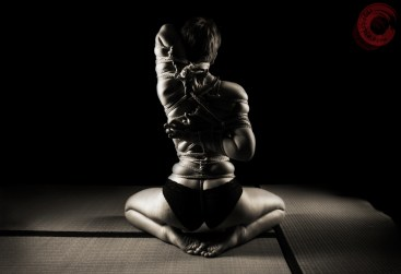 FarieWillow Kneeling in tight kuzushi shibari teppou