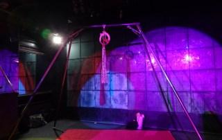Shibari suspension frame, bondage suspension frame.