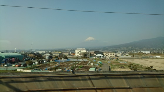 Fuji San seen from the Shinkansen