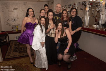 Following the Bondage Expo Dallas aftershow 2018 performers and organisers.
