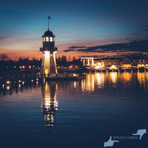The Yacht Club Lighthouse just before Dawn