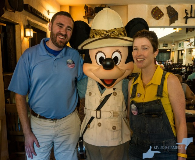 Meeting Mickey at Tusker House