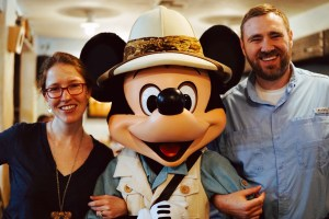Mickey is adorable in his safari gear