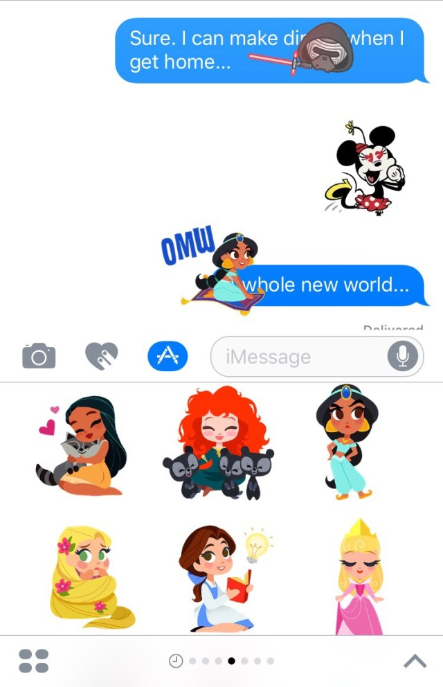 Disney Stickers for Messages!