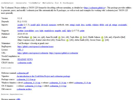 screenshot of <https://cran.r-project.org/web/packages/codemetar/index.html data-recalc-dims=