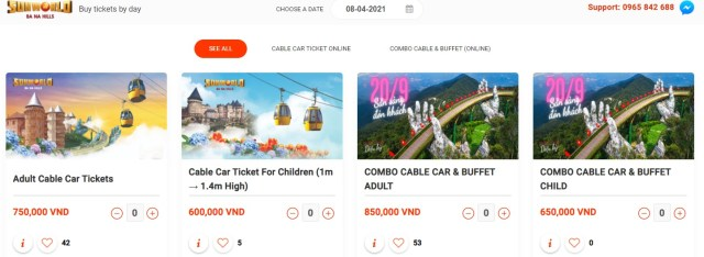ba na hills cable car ticket booking online