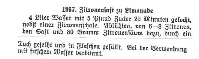 Zitronensirup nach Urgroßmutters Art nach 1894