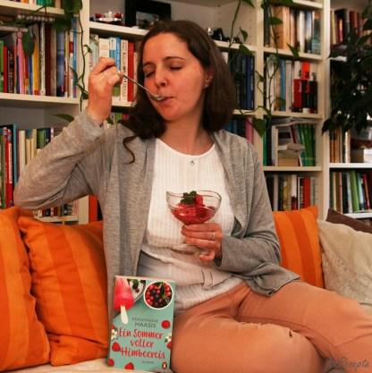 Paulines Rezept für Himbeereis - Ein Sommer voller Himbeereis