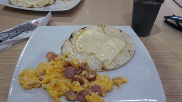 Arepas with egg and cheese