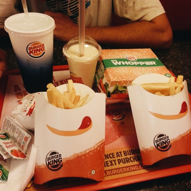 vegetarian burger king india
