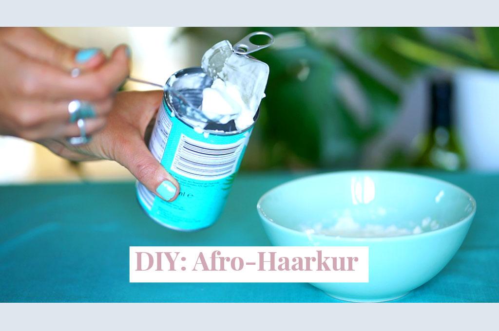 DIY Afro-Kokosmilch-Haarkur zum Selbermachen