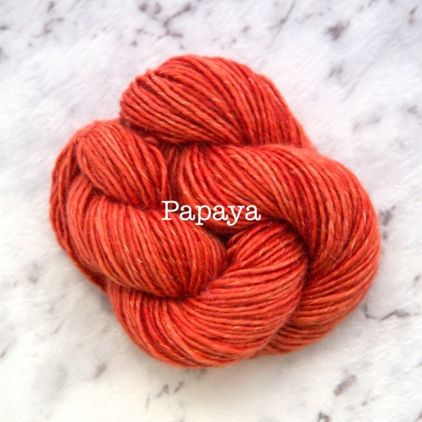 Rosabella TIRAMISU 5 kid merino cotton yarn_PAPAYA