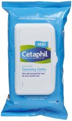 Cetaphil Gentle Skin Cleansing Wipes, no rinsing needed