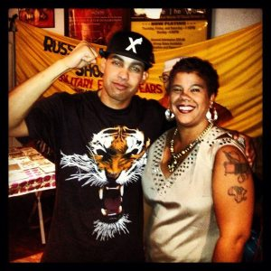 Jasiri X with Rosa Clemente