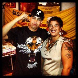Jasiri X with Rosa Clemente
