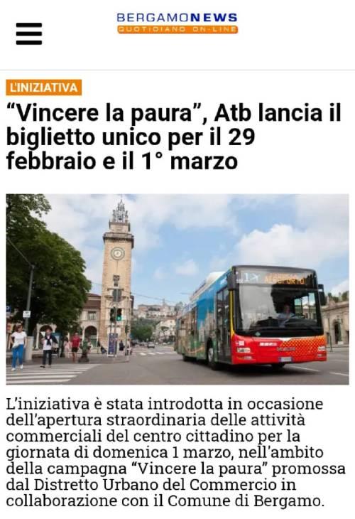 Bergamo non si ferma