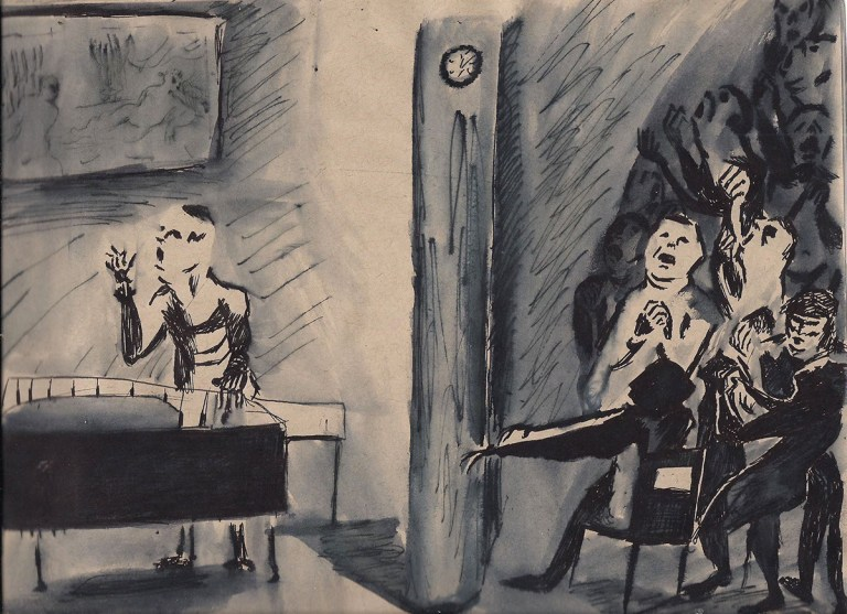 Patrick Facemire, Piano, drawing, contemporary art