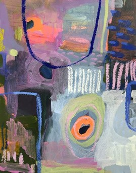 painter-erinmcintosh-composition-8-violet-and-bright-orange-with-ultramarine-arch-2016