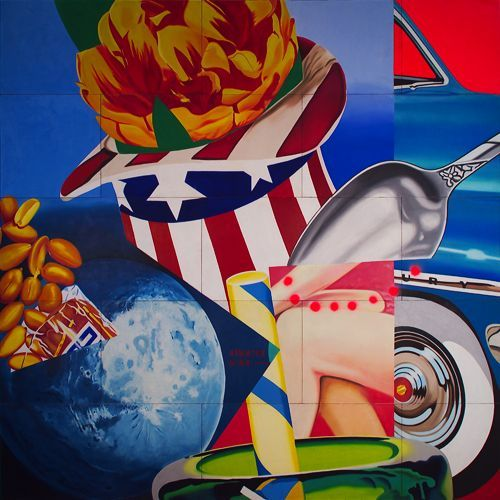 James Rosenquist detail of painting