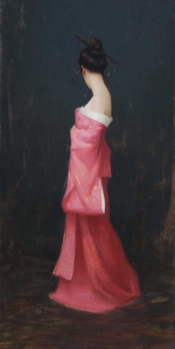 Aaron Westerberg American Painter Pink Kimono