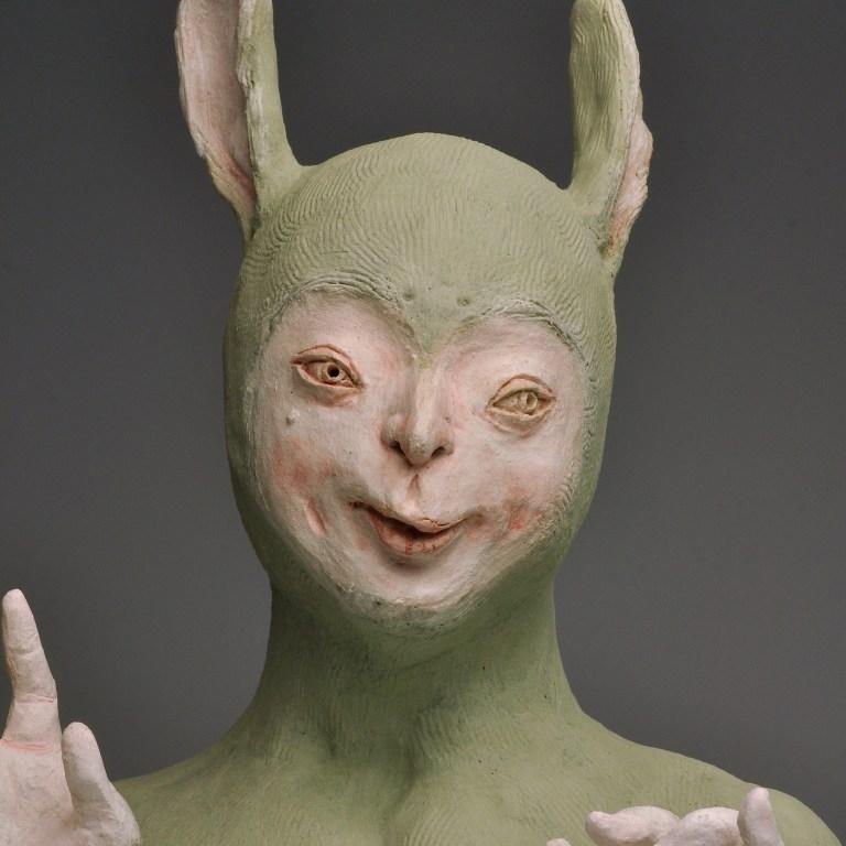 Malaysian contemporary artist Harn Kae Chao Green Rabbit