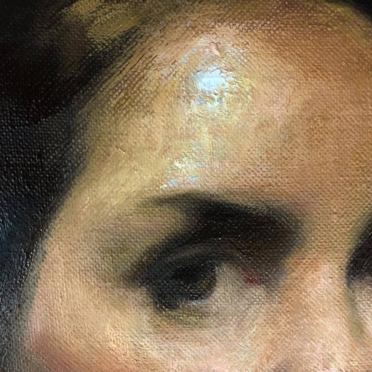 Self-Portrait, Contemporary-Painting, Spanish-Art, New-Art, Oil-Painters, Academic-Painting, Naturalism, Women-Artists, Portraits