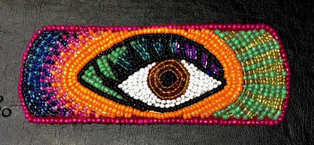 Isabella_Falashoka, Beading, Native-American-Art, Chicasaw, Indian-Art, Traditionall-Art, textiles, fine-art, art, new-art, contemporary-art, women-artists, female-artists, creative