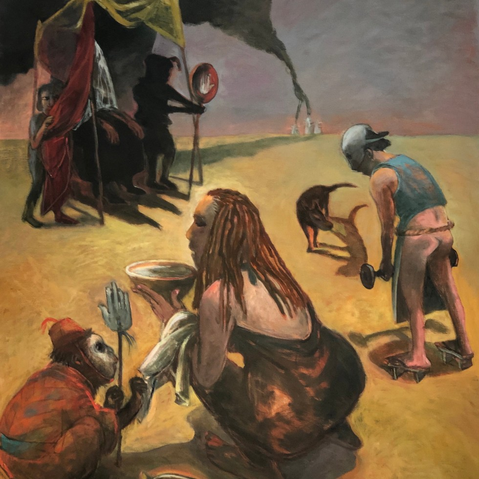 Oracle, Dali, Surrealist, Expressionist, Expressionism, New-Art, Painting, Figural, Realist, Surreal