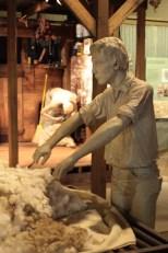 A picker mannequin hard at work