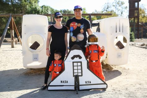 Holiday photos: Space themed family photo for Halloween