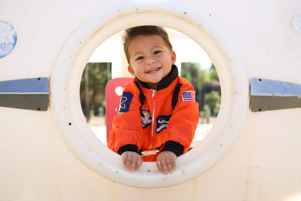 Holiday photos: Little boy dresses as an astronaut for Halloween