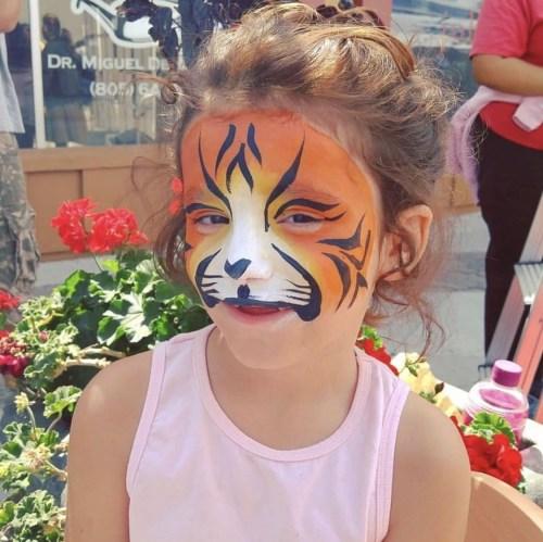 Tiger Face Painting by Leylany of La Catrinita Crafts