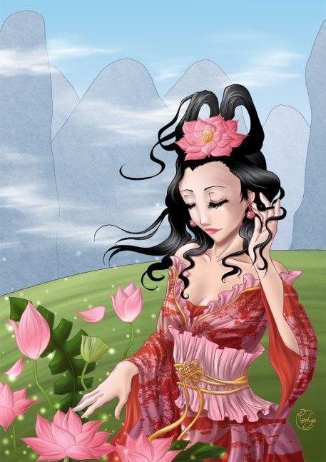 Windy lotus