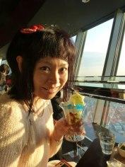 Sorakara parfait au café du Tôkyô Skytree