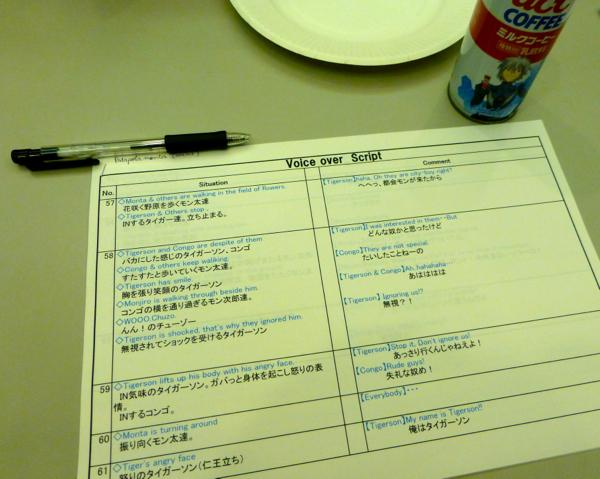Voice over script, english version