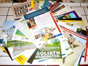 some of the piles of mail we received for the 2012 election
