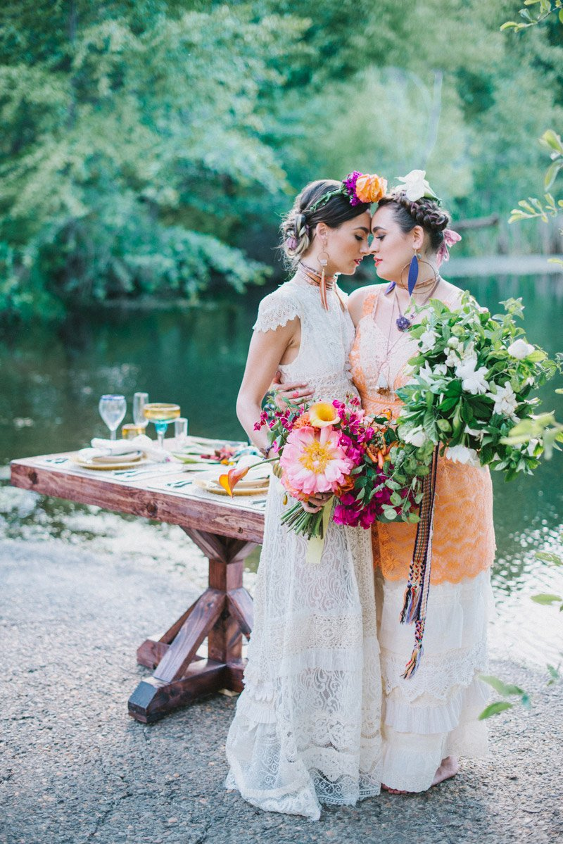 Frida Kahlo Inspired LBGT Wedding Inspiration Chico