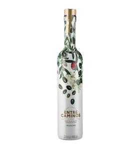 Prisvindende - Entre Caminos Selección (Premium) Early Harvest økologisk ekstra jomfruolivenolie, olivensort Hojiblanca, 500 ml hvid farvet mørk glasflaske