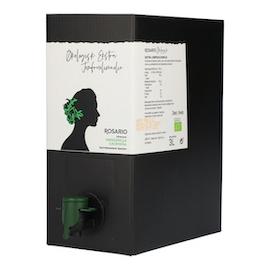 Rosario økologisk ekstra jomfruolivenolie af olivensort Manzanilla Cacereña i bag-in-box beholder