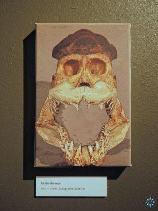 Knochenkunst Schädelcollage