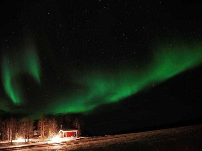 Nordlichter in Finnland