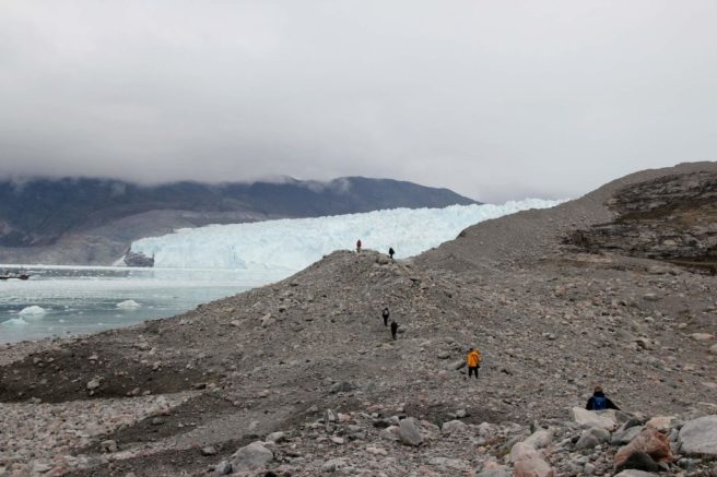 Moräne, Eqi-Gletscher