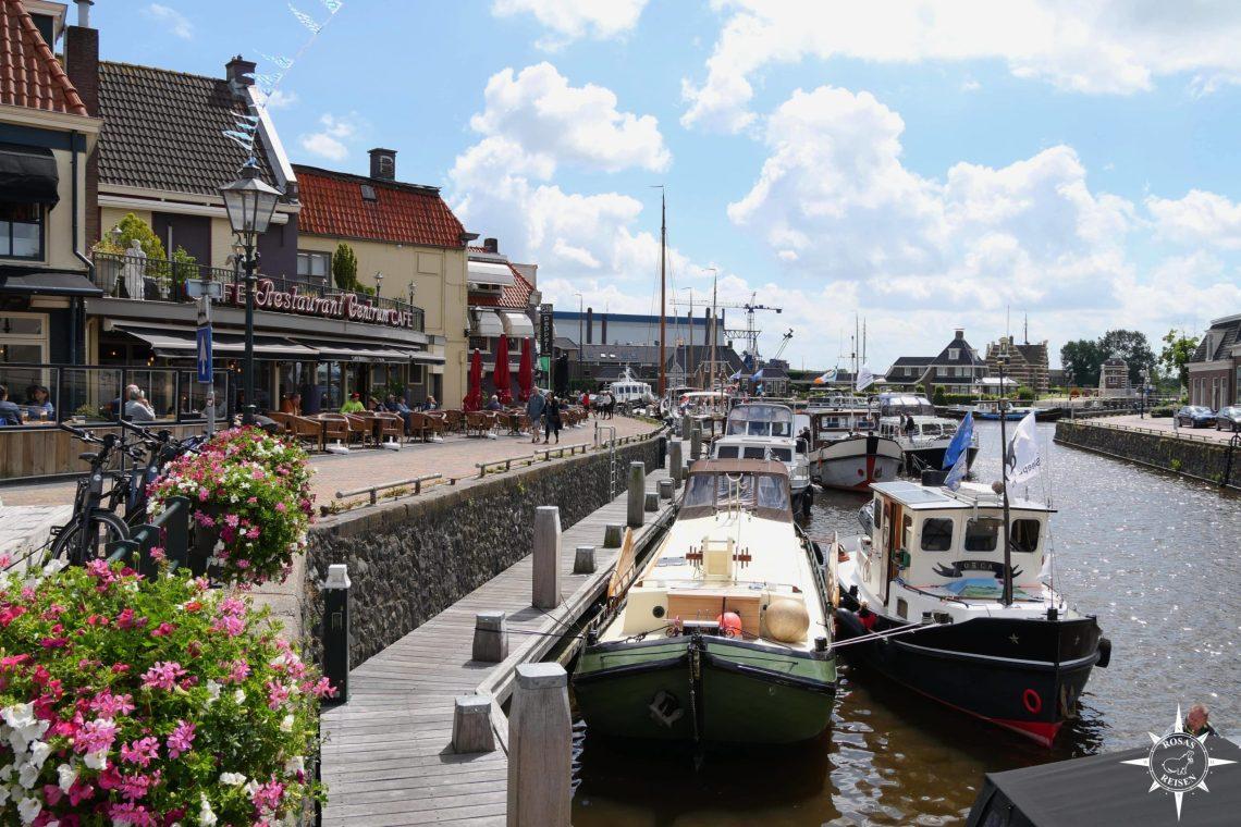 Fahrradtour-Niederlande-Tandem-Friesland-Flevoland-Lemmer-Hafen