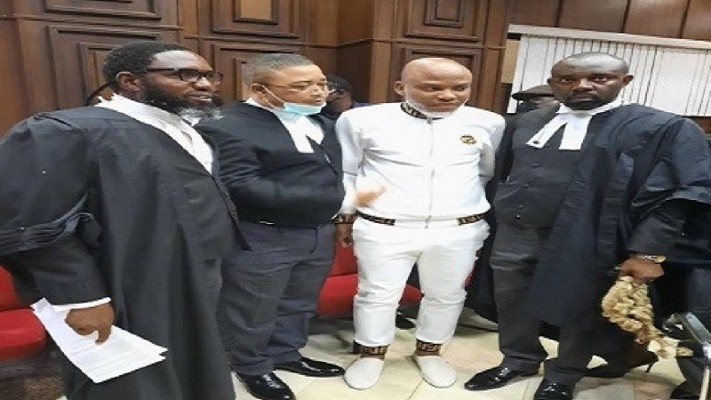 Court remands Nnamdi Kanu in DSS custody and adjourns trial till November 10
