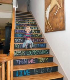 Escaliers peinture ardoise 2 // Un Air d'Intérieur Blog déco & DIY unairdinterieur.wordpress.com