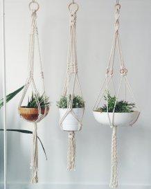 Porte-plantes macramé corde // Un Air d'Intérieur Blog déco & DIY unairdinterieur.wordpress.com