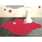 Un tapis crocheté