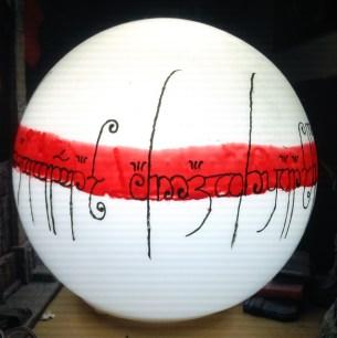 Lampe Fado peinte
